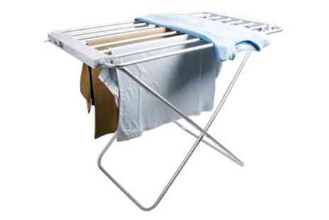 Groupon Goods Global GmbH - Electric Heated Clothes Airer With or Without Wings - Save 44%