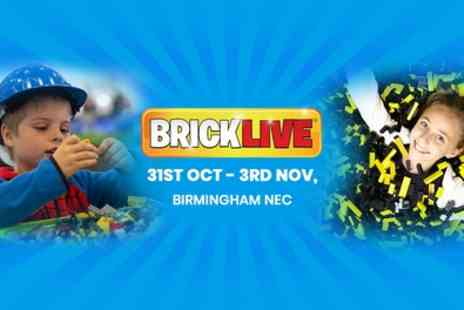 BRICKLIVE - General admission from 31st October To  3rd November - Save 24%