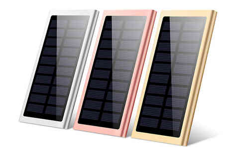 J Star Direct - 10000mAh Dual USB Solar Power Bank Choose from 3 Colours - Save 63%