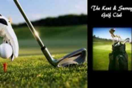 The Kent & Surrey Golf club - Round of 18 Hole golf for 2 people - Save 70%