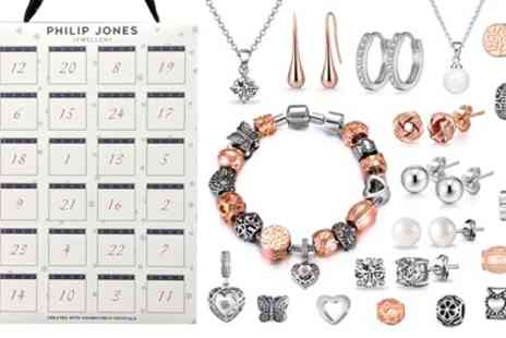 Groupon Goods Global GmbH - Philip Jones Jewellery Advent Calendar with Crystals from Swarovski - Save 81%