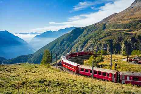 Weekender Breaks - Three nights Italy and Switzerland break including scenic Bernina express train and flights - Save 22%