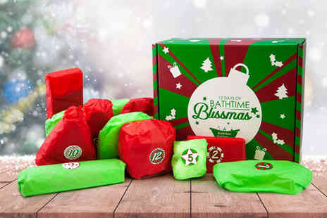 Bathtime Boutique - 12 Days of Bathtime Blissmas advent calendar get 12 homemade bath bombs and soaps - Save 71%
