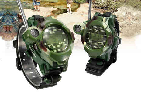 WowWhatWho - Pair of walkie talkie watches - Save 87%
