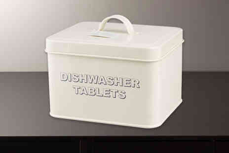 Direct2Public - First aid or dishwasher tablet storage tin organise your home - Save 84%