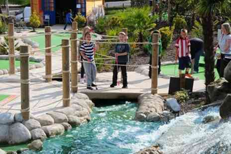 World of Golf Croydon - Game of Dragon Quest Adventure Golf for One or Four - Save 33%
