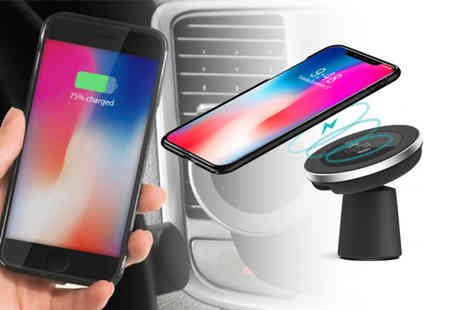 My Brand Logic - 2 in 1 car magnetic phone holder and Qi wireless charger - Save 68%