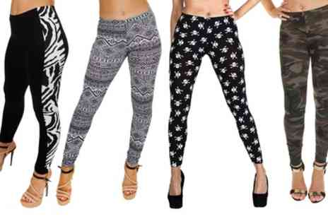Groupon Goods Global GmbH - Printed Stretch Leggings - Save 27%