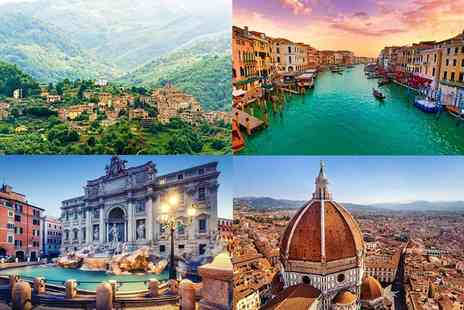 Crystal Travel - Nine nights Italy tour with transfers, included excursions and return flights - Save 20%
