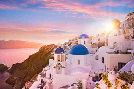 Bargain Late Holidays - Escape with a seven nights getaway to Santorini Now with the ability to choose your flight - Save 0%