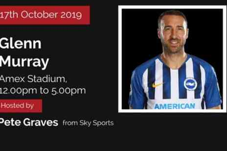 An Afternoon with Glenn Murray - One, two or four tickets with Two Course Lunch on 17th October - Save 50%
