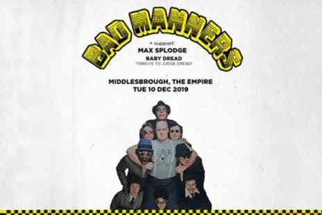 Bad Manners Live - General admission standing tickets from 1st To 10th December - Save 25%