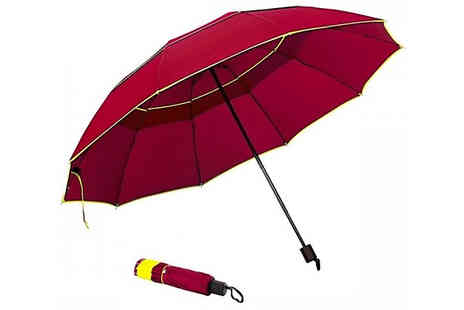 CN Direct Biz - Strong Steel Framed Family Sized Umbrella Choose from 3 Colours - Save 85%
