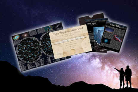 Star Name Registry - Name an extra bright star package - Save 54%
