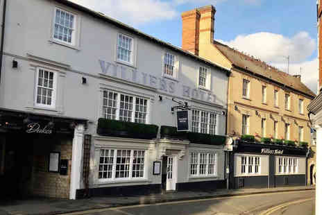 Villiers Hotel - Four Star Overnight Buckingham break for two people with three-course dinner, breakfast and 1pm late check out - Save 37%