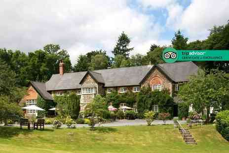 The Edgemoor - Overnight Dartmoor, Devon getaway for two people with cream tea, glass of Prosecco, breakfast and late check out - Save 34%