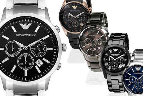 AW Watches - Emporio Armani Chronograph Watch for Men Available in 6 Models - Save 70%