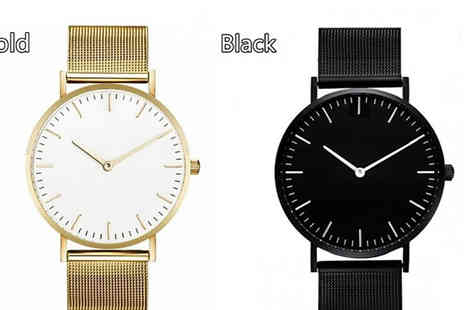 hey4beauty - Stainless Steel Quartz Watch Choose from 4 Colours - Save 50%