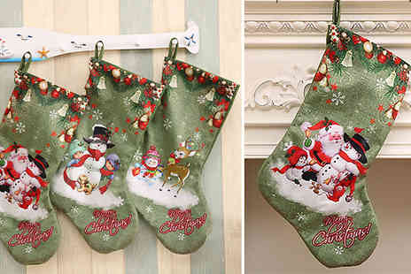 SecretStorz - Christmas Gift Stocking Choose from 3 Designs - Save 75%
