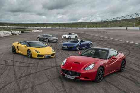 Supercar Drive Days - Supercar driving experience for one person with three laps in one supercar and a passenger hot lap - Save 62%