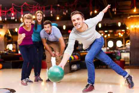 Disco Bowl - Three Games of Bowling with Meal and Drinks for Two - Save 0%
