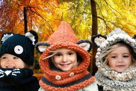 Groupon Goods Global GmbH - One, Two or Three Childrens Animal Hat and Scarf Set - Save 72%