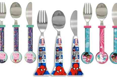 Groupon Goods Global GmbH - Three Piece Kids Character Cutlery Set - Save 0%