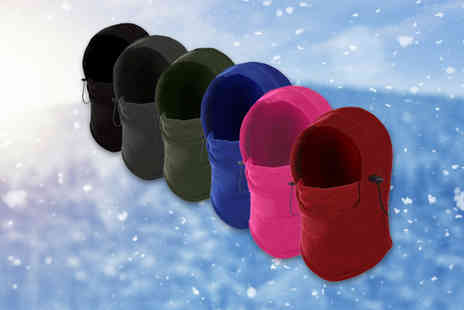 Domosecret - Thermal fleecy balaclava choose from 10 colours - Save 81%