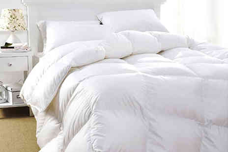 Groundlevel - Luxury duck feather duvet choose from three sizes - Save 0%