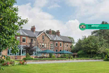 Burn Hall - Two nights Yorkshire stay for two people with breakfast, cream tea and tickets to York Bird of Prey Centre - Save 67%
