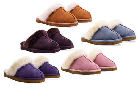 Redfoot - Pair of ladies sheepskin mule slippers - Save 75%