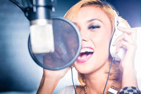 Singing Experience - Two hour hit single recording studio experience including a cover photoshoot and CD - Save 90%