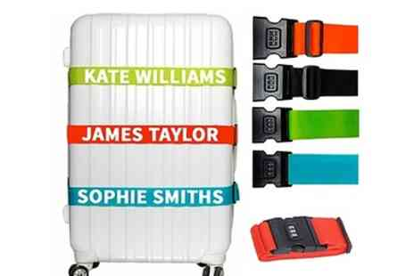 Personalised Gift Market - One or Two Personalised Combination Luggage Straps - Save 65%