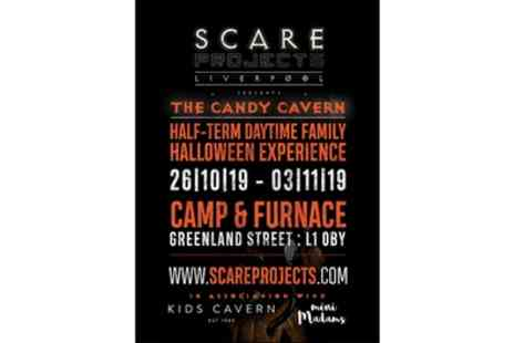 Halloween Scare project - One adult ticket to the Asylum experience or one adult or child ticket to the Candy Cavern experience from 24th October To 3rd November - Save 33%