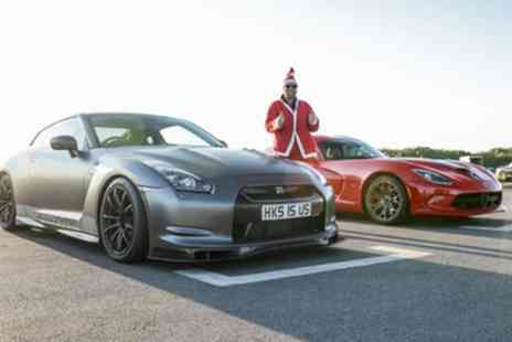 Drift Limits - 8 Lap One Supercar or 16 Lap Three Supercar Secret Santa Driving Experience - Save 51%