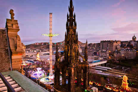 Mercure Edinburgh Princes Street - Overnight stay for two people with a bottle of wine on arrival, breakfast and late checkout by 12pm - Save 54%
