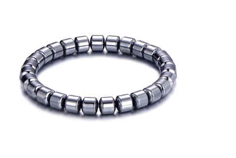 Philip Jones - Mens hematite bracelet - Save 69%