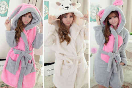 hey4beauty - Fluffy unisex dressing gown in your choice of eight styles choose from ladies UK dress sizes 8 To 12 - Save 70%