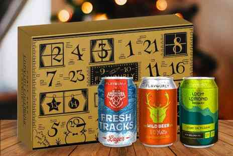 Flavourly - Craft beer advent calendar including twenty four different cans in a custom box - Save 20%