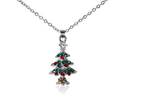 Gemnations - Crystal encrusted Christmas tree pendant - Save 90%