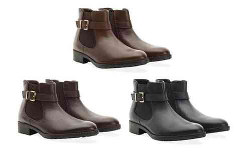 Redfoot - Ladies buckle Chelsea boot choose from black, brown and tan - Save 57%