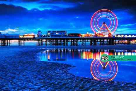 The Carousel - Overnight Blackpool stay for two people with two course dinner, bottle of Prosecco, breakfast, late check out and early check in - Save 40%