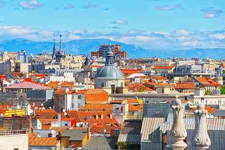 Crystal Travel - Two nights central Madrid getaway with flights, breakfast, terrace and Jacuzzi room - Save 21%
