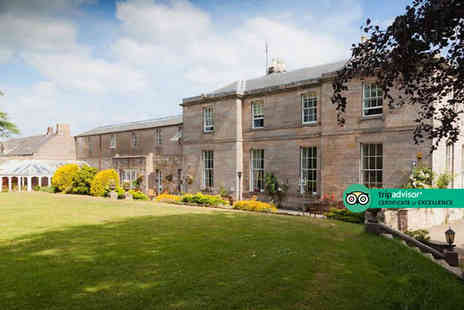 Marshall Meadows Country House Hotel - Overnight Berwick upon Tweed seaside stay for two people with £10 dinner credit and breakfast - Save 50%