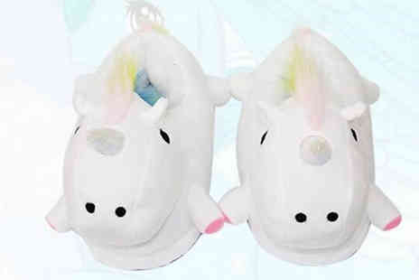 MBLogic - Soft Unicorn Slippers Choose from 3 Colours - Save 70%