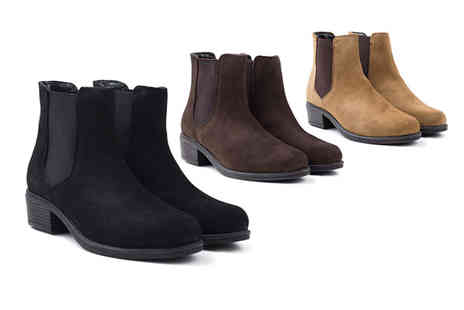 Redfoot - Pair of water resistant suede Chelsea boots - Save 57%