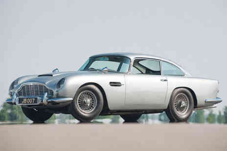 Car Chase Heroes - Three lap Aston Martin DB5 driving experience for one person - Save 61%