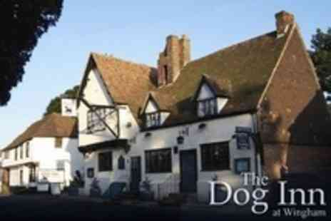 The Dog Inn - In Wingham One Night Stay For Two With Breakfast - Save 55%