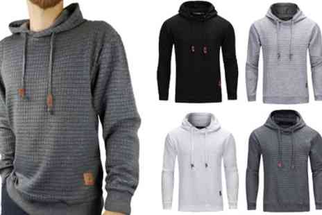 Groupon Goods Global GmbH - One or Two Mens Nathan Textured Hoodies - Save 50%