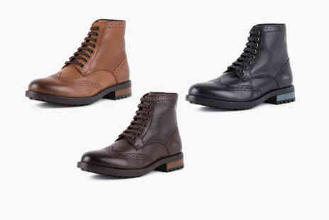 Redfoot - Pair of mens brogue boots choose between black, brown and tan while - Save 57%